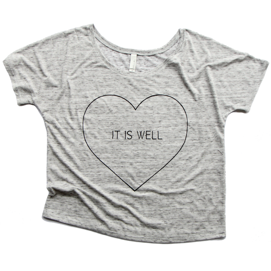 Image of IT IS WELL WHITE MARBLE WOMEN'S T-SHIRT