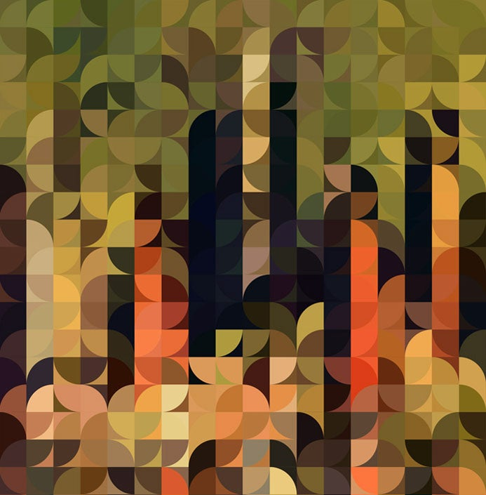Image of Squint Prints Abstract Cityscape - 2