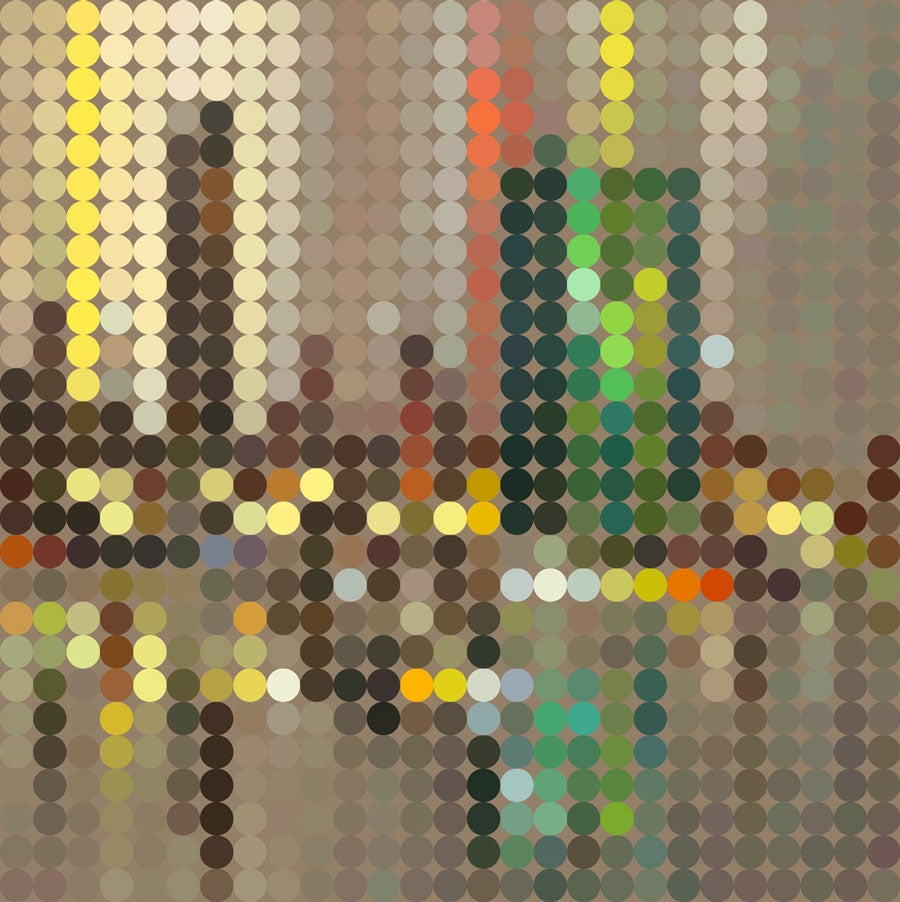 Image of Squint Prints Abstract Cityscape - 5
