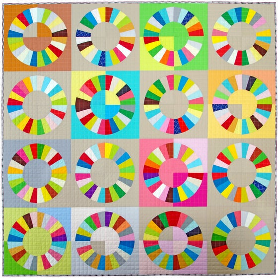 Image of Color Wheel Block - FOUNDATION PAPER PIECING PATTERN ONLY