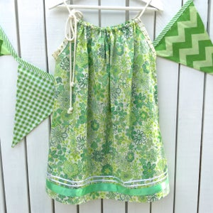 Image of London Calling Green Floral Dress
