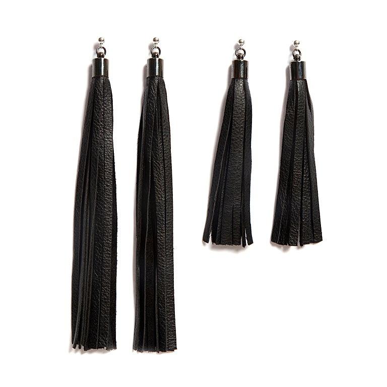 "Image of ""Flow"" Leather Tassel Earrings"