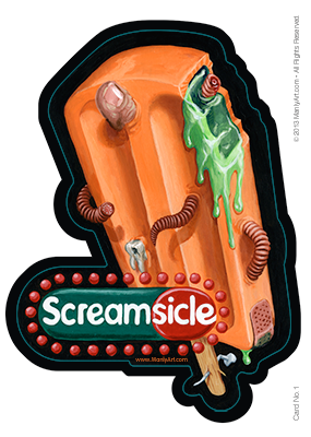Image of Screamsickle Sticker