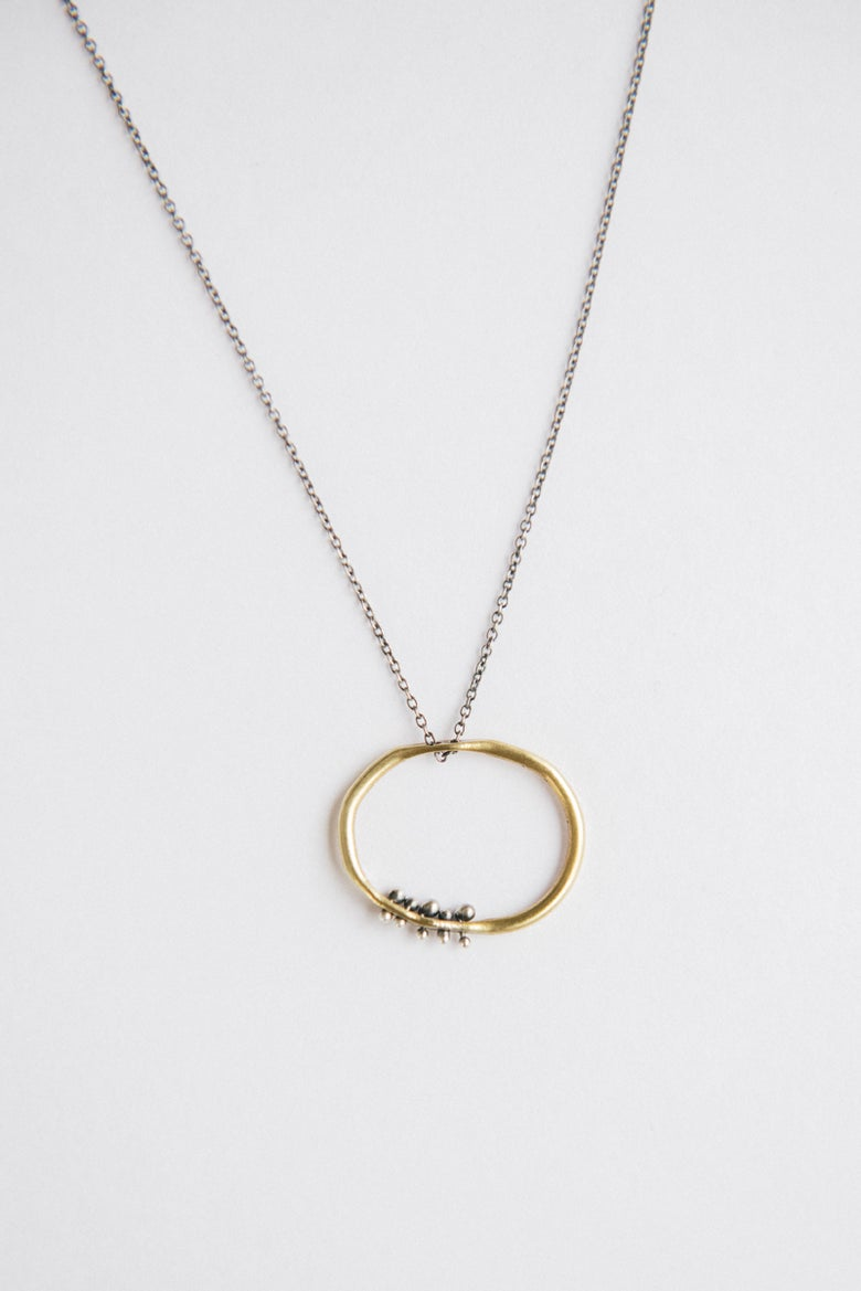 Image of Organic oval necklace