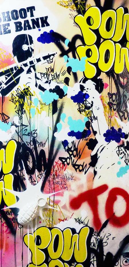 Image of GRENADE POW STREET ART & JP MALOT 40x80 cm