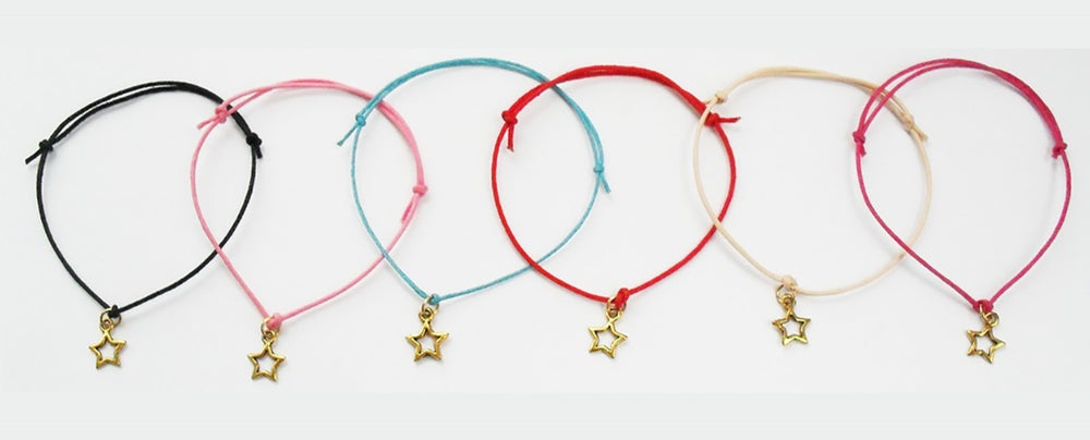 Image of Star Cord Charm Bracelet