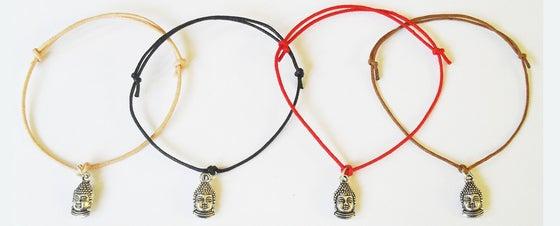 Image of Buddha Charm Cord Bracelet