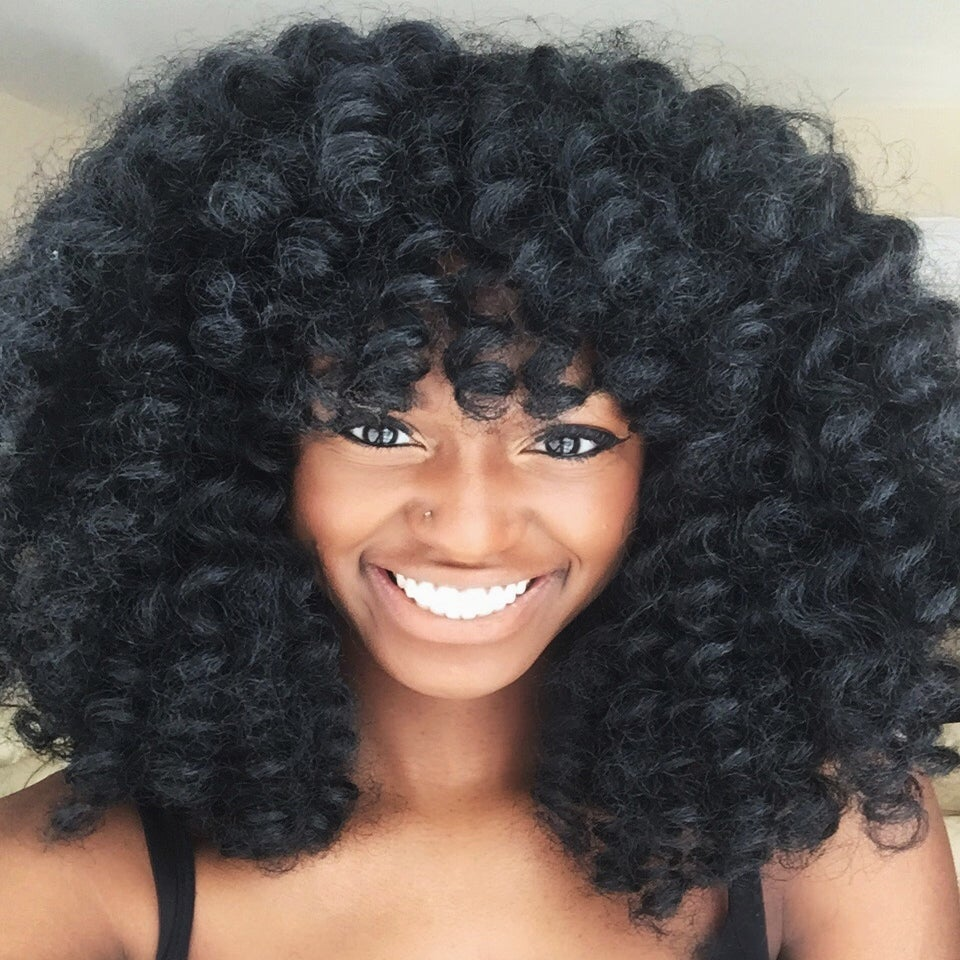 Crochet Hairstyles Using Marley Hair : Marley Crochet Wig (side part)