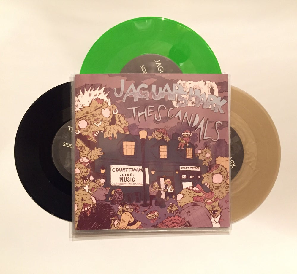 "Image of Split 7"" with Jaguar Shark"