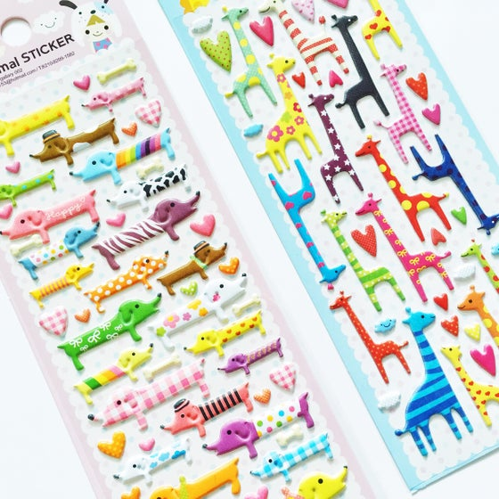 Image of Animal Puffy Stickers