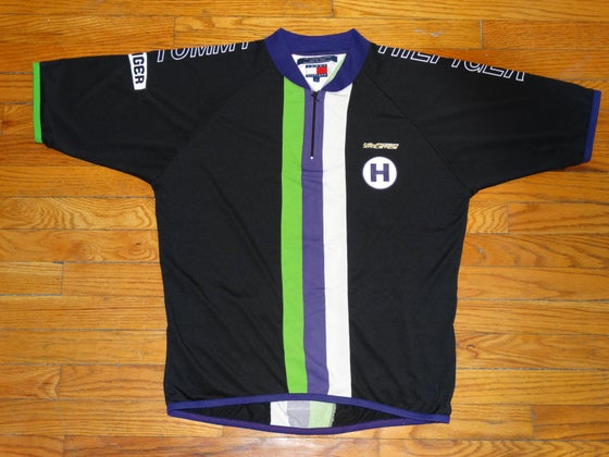 Image of (L) Deadstock Men's 90's Tommy Hilfiger Athletics Cycling Jersey