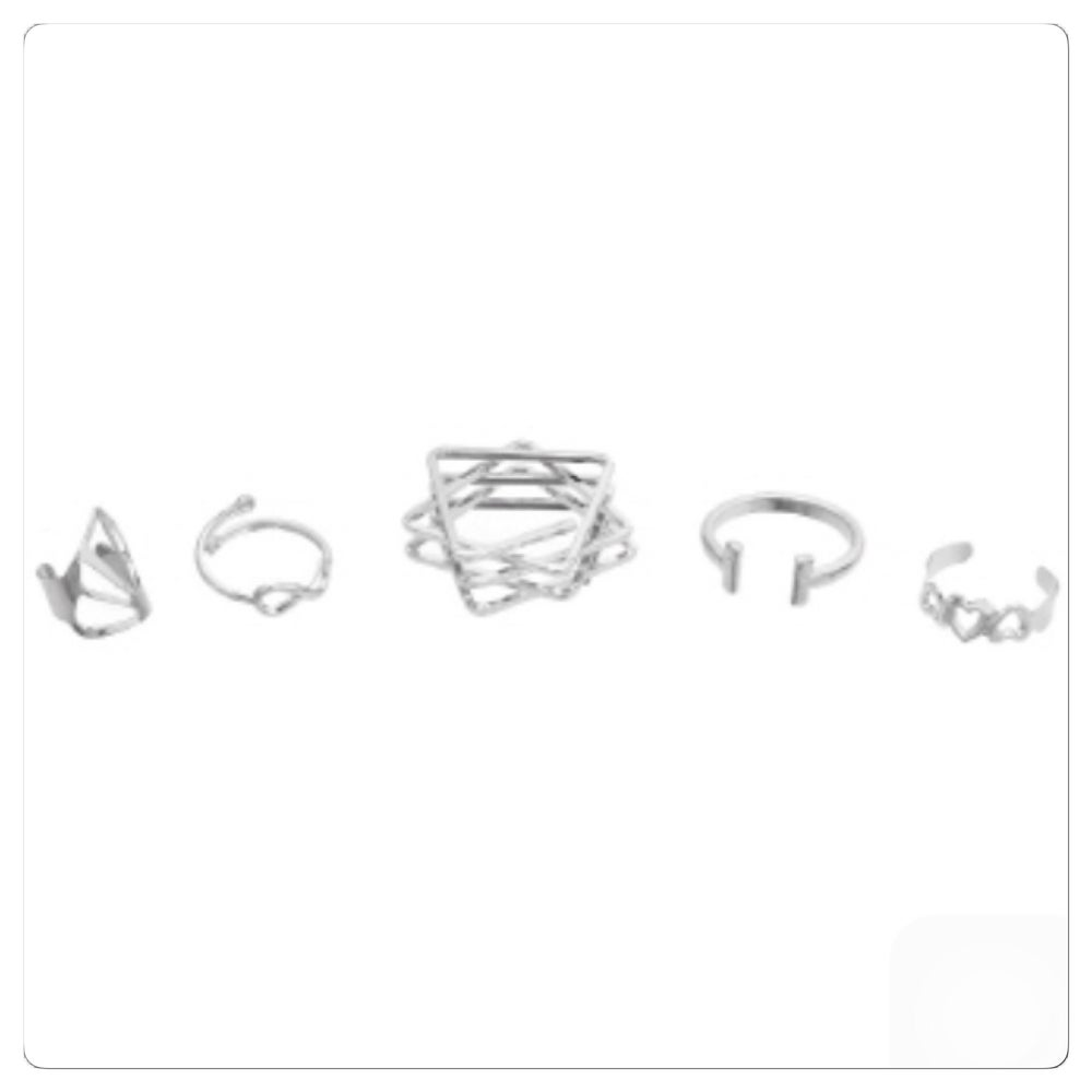 Image of Infinti Hearts Midi Ring Set