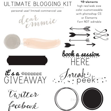 Image of Ultimate Blogging Kit By Dear Emmie