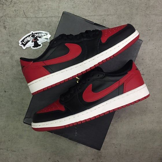 Image of Nike Air Jordan 1 Retro Low OG 'BRED'