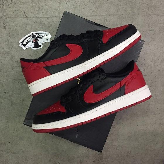 Image of Nike Air Jordan 1 Retro Low OG 'BRED'