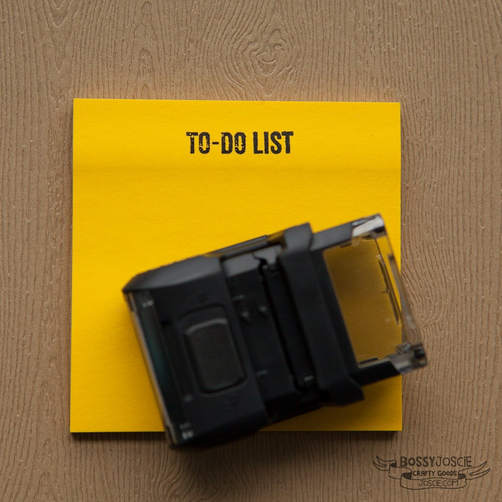 Image of To Do List, self inking