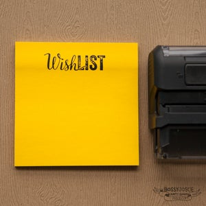 Image of Wish List Self Inking Stamp