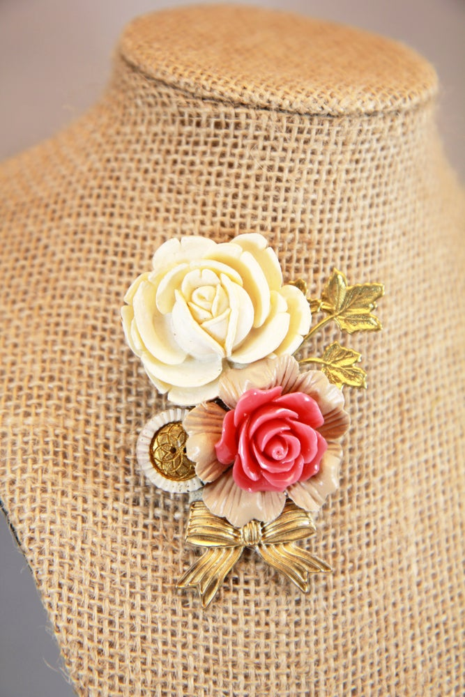 Image of Rose Blooms Brooch