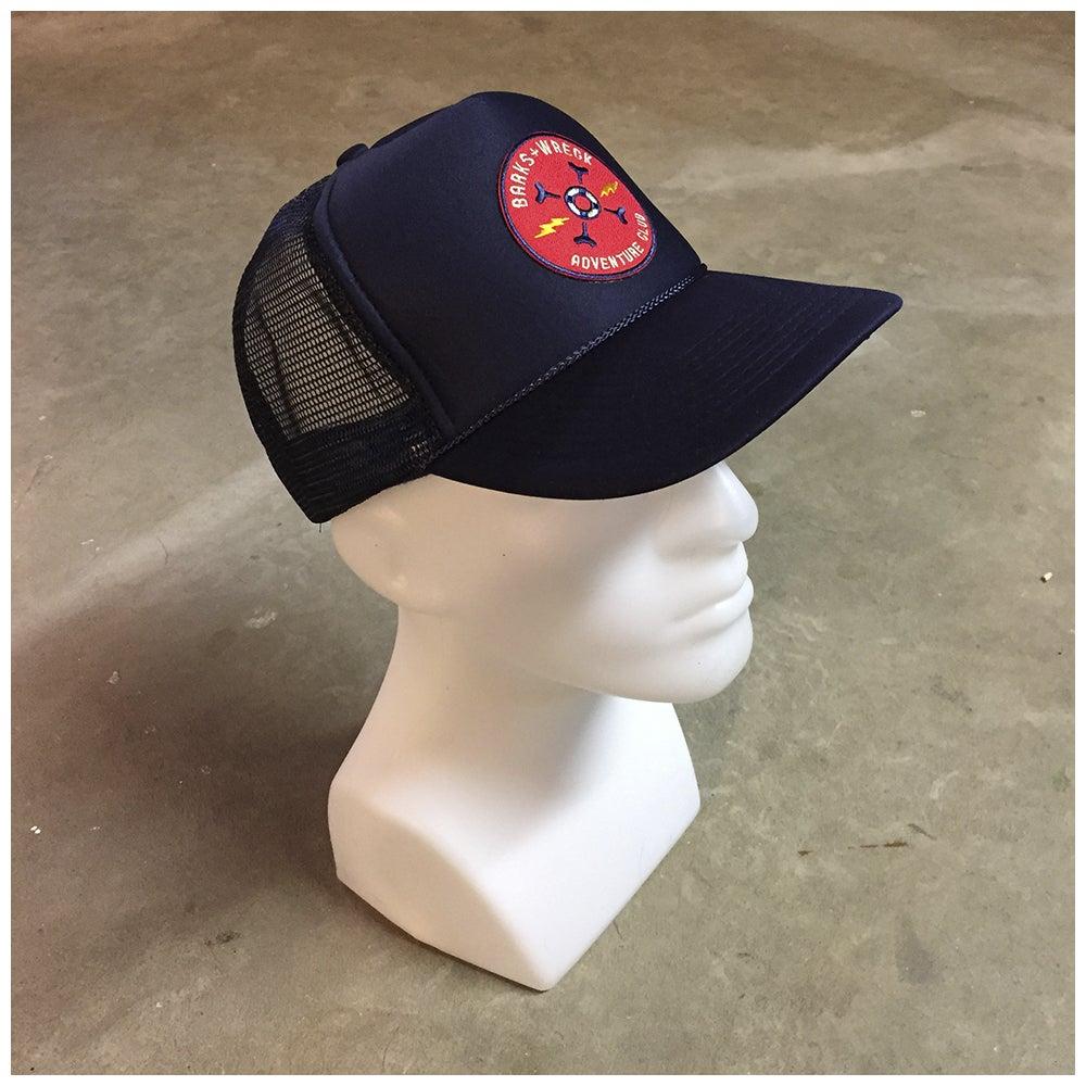 Image of Trucker Hat:  BARKS+WRECK ADVENTURE CLUB