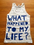 Image of WHTML striped Heather Tank Top- BLUE