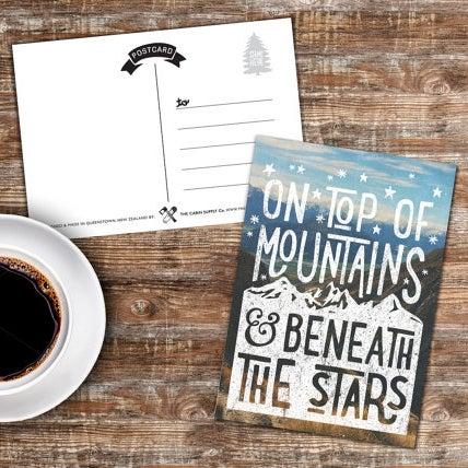 Image of inspirational adventure postcard - portrait