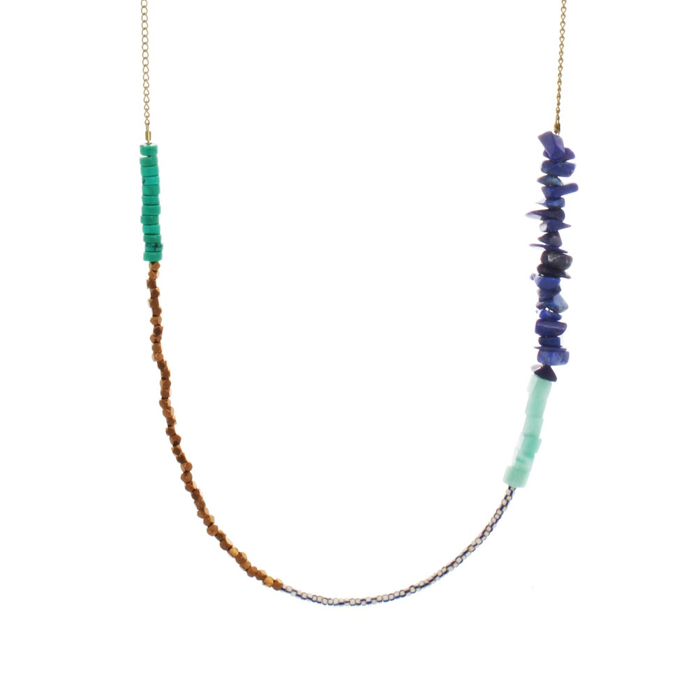 Image of WHIMSY BEADED CHAIN OCEAN