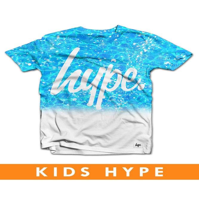 Image of HYPE KIDS. POOL SPLAT FADE TSHIRT