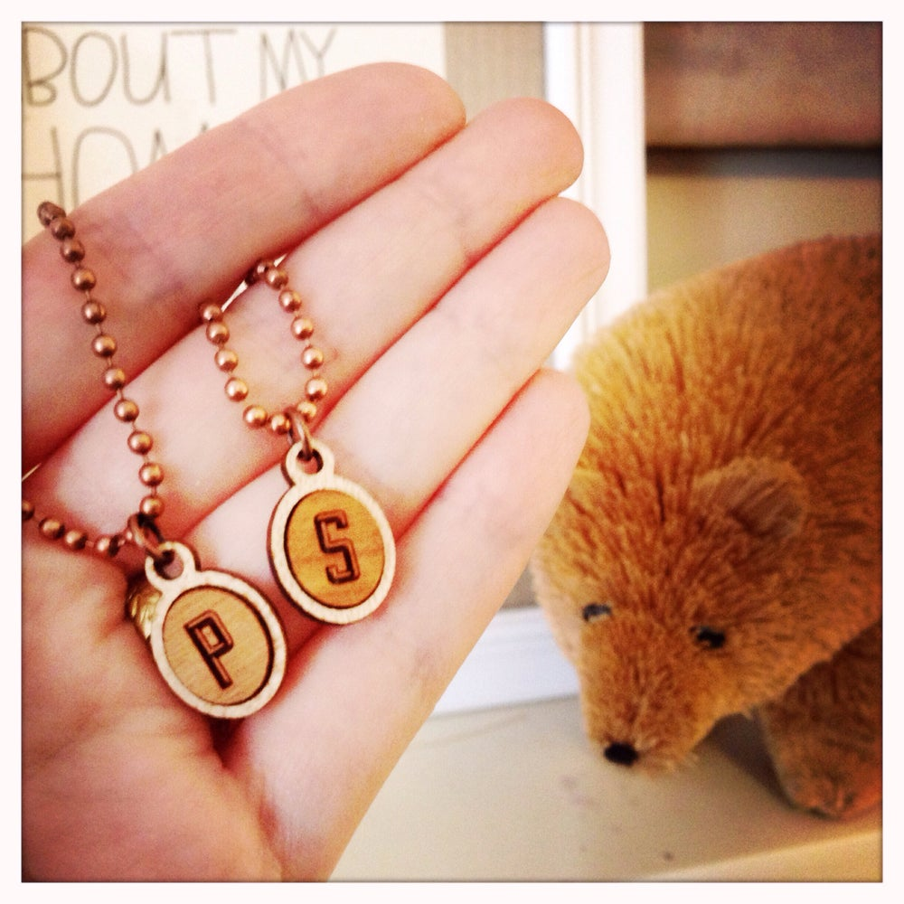 Image of Campfire Initial Charm Necklace