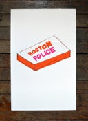 "Image of ""Boston Police"" Silkscreened Poster"