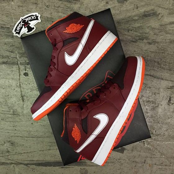 Image of Nike Air Jordan 1 Mid 'Deep Burgundy'