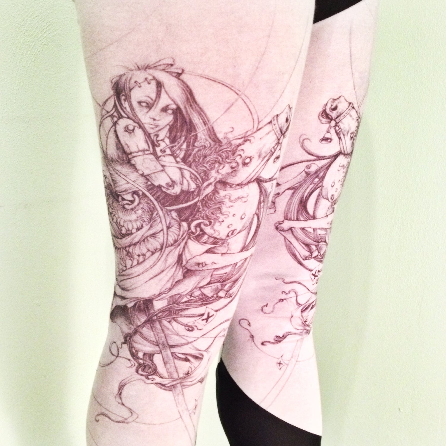Image of Marionette Horse Leggings collaboration with Jeremy Hush