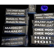 Image of Live Laugh Aloha Mini-Bumper Stickers