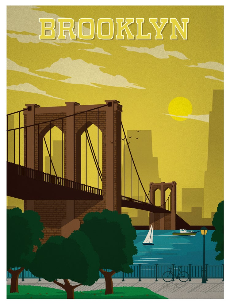Image of Vintage Brooklyn Print