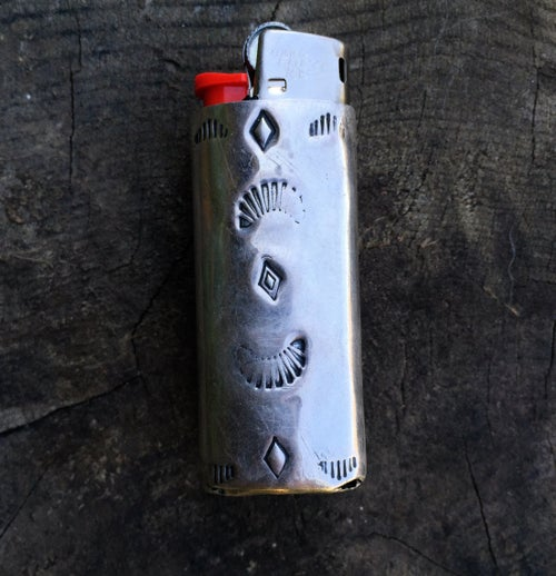 Image of SONORA SUNRISE & SILVER MINI BIC LIGHTER SLEEVE