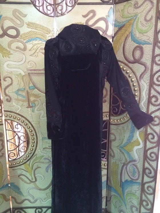Image of Velvet Look Style Abaya