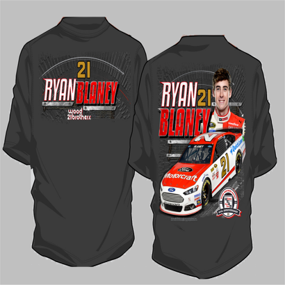 Image of Ryan Blaney Wood Brothers Racing Shirt