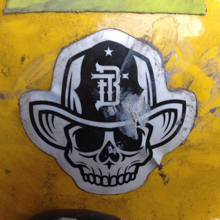 Image of Two Bubbas Helmet Sticker