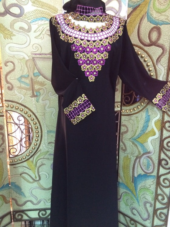 Image of Amethyst Cutwork Abaya