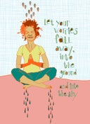 Image of let your worries fall away PRINT