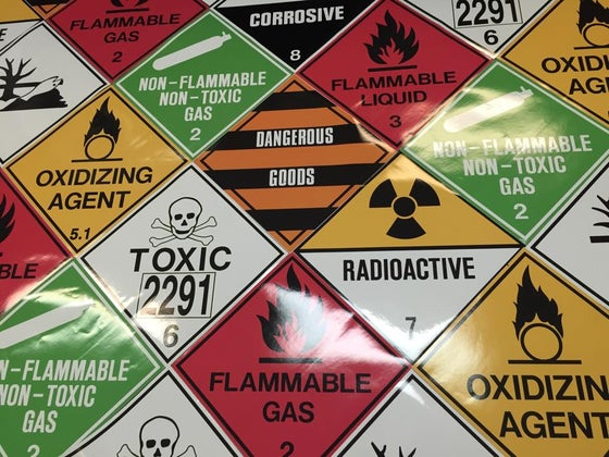 Image of Safety Signs (Vinyl Stickers)