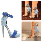 Image of BLUE Denim Distressed Emily B Inspired Heels