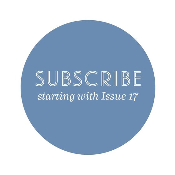 Image of Subscribe! Starting with Issue 17: Taste