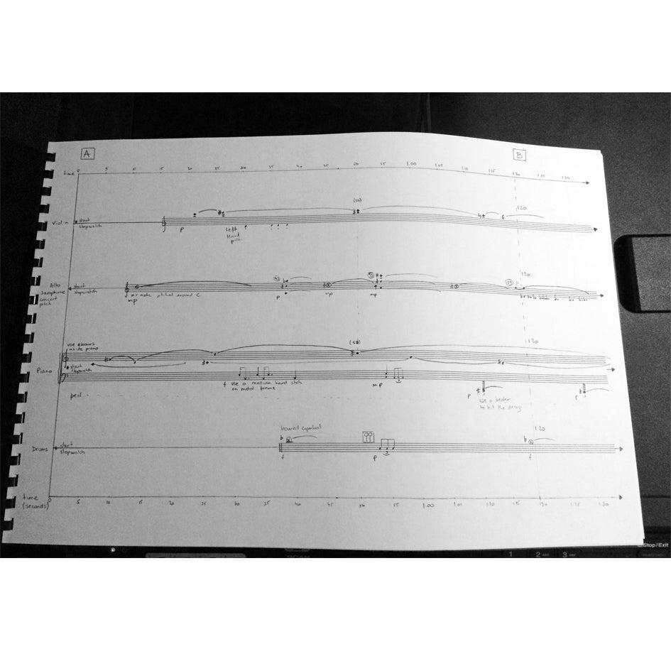 Image of ICELAND SPAR - VIOLIN, ALTO SAXOPHONE, PIANO, DRUMS
