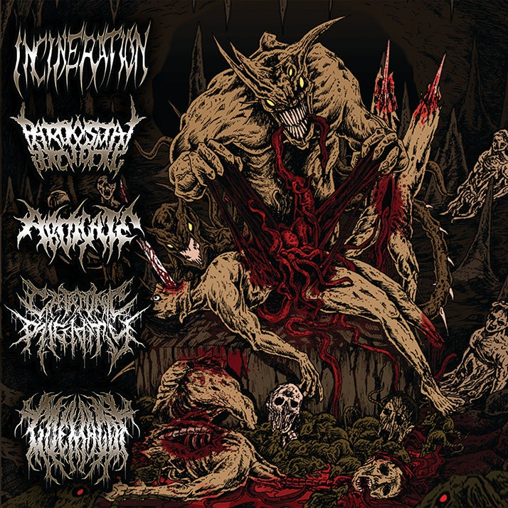 Image of Horrendous Forms of Human Ruination-5way split cd