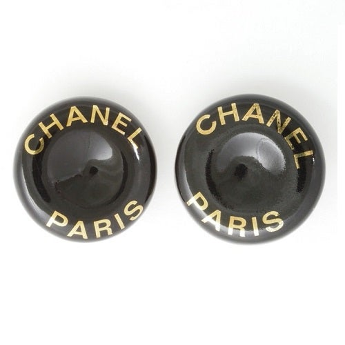 Image of SOLD OUT Chanel Paris Authentic Signed Logo Earrings - Vintage 1997 Spring Collection