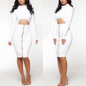 Image of Zip Peek Dress