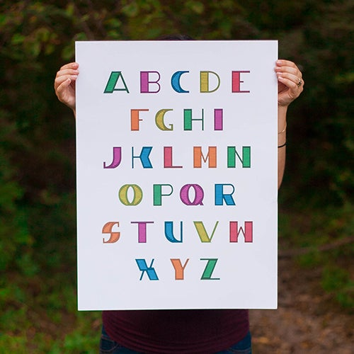 Image of Alphabet Poster