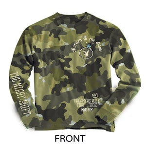 "Image of ""The Night Shift"" Limited edition long sleeve camo T shirt"