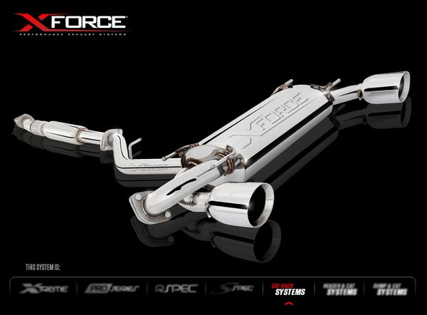 """Image of XForce Cat-Back System 3"""" Stainless Steel"""