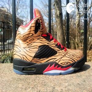 """Image of Air Jordan 5 """"Woodgrain Tattoo"""" Custom (1-of-1)"""